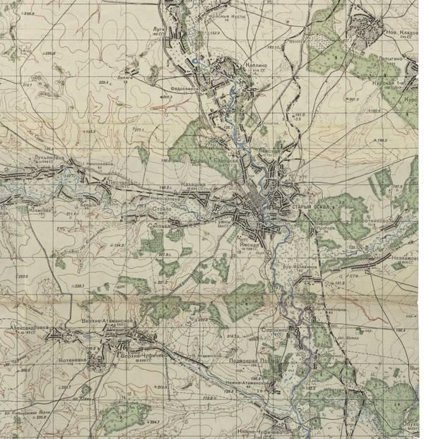 Старый Оскол ( карта 40-х